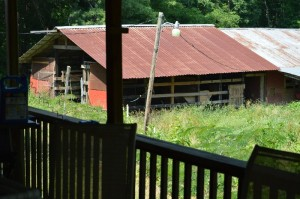 Front section of the barn from the deck